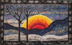 Winter Sunset, Quilts For Sale, Collaboration, Pets, Board, Wall, Pattern, Fabric, Crafts