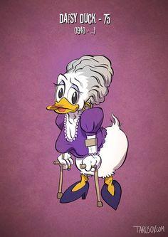 Ilustrações mostram personagens de desenho animado na terceira idade - Sim, o tempo passa para todo mundo! Nem os personagens de desenho animado podem escapar do efeito da velhice. Confira as ilustrações de Andrew Tarusov!
