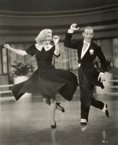 Ginger Rogers & Fred Astaire!  There are no two actors that have more talent to dance & act.