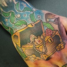 Treasure chest tattoo