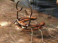Scrap Metal Art Projects   Horseshoe Crab Sculpture : Archive : Home & Garden Television