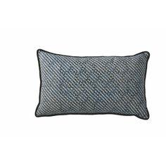 Pomax Malia Kussen 30 x 50 cm - Grijs/Blauw - afbeelding 1