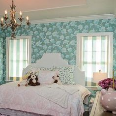 Kids Bedroom with Pink Ceiling, Contemporary, Girl's Room