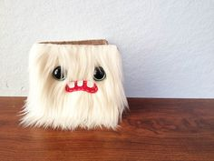 White Monster Wallet Two Turquoise Eyes by ShopGhoulieGirls, $24.00