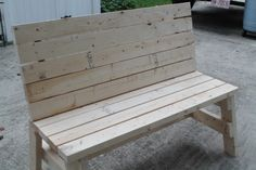 Simple 2x4 Bench | Do It Yourself Home Projects from Ana White