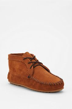 Moccasin Suede Ankle Boot  #UrbanOutfitters  Im Obsessed