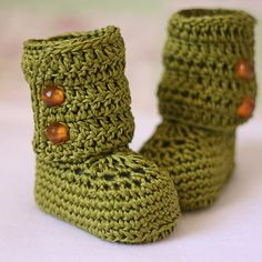Crochet Baby Booties  Baby Ankle Boots ready to by crochetvalley, $15.00