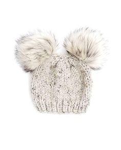 367b61e07fb Baby Fur Pom Pom Hat Fur Pom Pom Beanies Toddler Hat for Girls Knitted Baby  Beanies