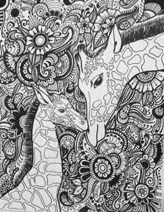Giraffe Floral Design by byjamierose on Etsy