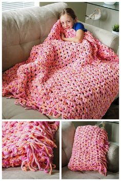This ultimate beginners crochet pattern. This cozy crochet blanket is so easy, quick and fun to make. You dont need much experience to make this blanket and you can crochet it up in a jiffy. This ultimate beginners croch Crochet Afghans, Easy Crochet Blanket, Crochet Stitches, Chunky Blanket, Chunky Crochet Blankets, Bernat Baby Blanket, Patchwork Blanket, Baby Blankets, Crochet Patterns For Beginners