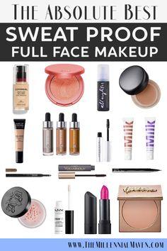 *UPDATED The Best Sweat Proof Makeup Products for a Long-Wearing, Full Face Look * UPDATED 2019 * The best sweat-resistant make-up products for a long-lasting, full-fledged look Full Face Makeup, Eye Makeup, Makeup Geek, Makeup Kit, Prom Makeup, Oily Skin Makeup, Wedding Makeup Tips, Makeup Blog, Hair Makeup