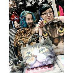 Kissoja koko pulju täynnä! Meow! ♡ #newarrivals #newproducts #cat #bag #backbag #purse #headband #ears #panther #leopard #animalprint #studs #dots #rockabilly #fifties #pinup #retro #bluehair #tealhair #turquoisehair #greenhair #dyedhair #alternative #alternativefashion #piercing #septum #cybershop #cybershopkamppi #kamppi @lempikerttu @jonshuu Turquoise Hair, Teal Hair, Green Hair, Panther Leopard, Back Bag, Alternative Fashion, Dyed Hair, Pinup, Rockabilly