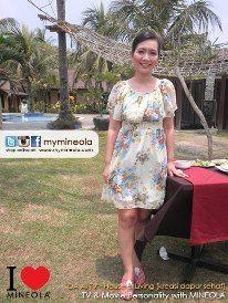 DA AI TV - House & Living [Kreasi Dapur Sehat] presenter menggunakan koleksi fashion dari MINEOLA  Detail pakaian yang dikenakan presenter ini dapat dilihat di: http://www.facebook.com/photo.php?fbid=10150837049014046=a.10150913957849046.533348.98906349045=3