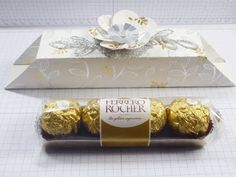 Glue Free Chocolate Box for 4 Ferrero Rocher Chocolates - YouTube