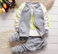 New Autumn And Winter baby boys and baby girls clothing set 3pc/set ( T shirt+coat+pants)suit for 0 2 years baby-in Clothing Sets from Mother & Kids on Aliexpress.com | Alibaba Group