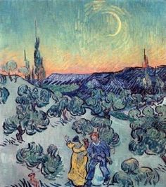 The Stroll, Evening Giclee Print Poster by Vincent Van Gogh Online On Sale at Wall Art Store – Posters-Print.com
