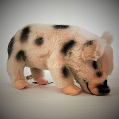 """Mrs. Piddles"" Mohair Micro Pig"