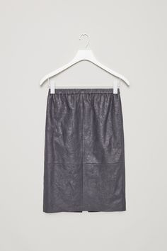 COS | Crinkled leather skirt