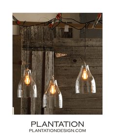 Cologne Glass Pendant Lamp from www.Plantationdesign.com $195.00...  over the kitchen island?