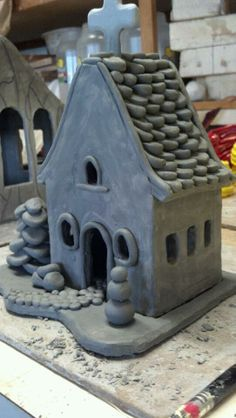 Clay houses!