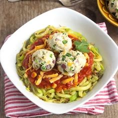 Mexican Zucchini Noodles #glutenfree #lowcarb