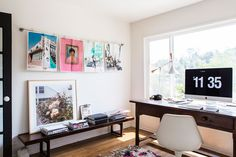 "This Blogger's Brand-New L.A. Home Is Impossibly Dreamy #refinery29  http://www.refinery29.com/2015/09/94026/sf-girl-by-bay-blog-home-tour#slide-22  ""I wanted to leave my office pretty spare, because I want room to shoot. In my old house, I was constantly moving furniture in and out. Here, I just have my mom's big antique French barn table as a desk. I'm also going to paint the floors white in here.""..."