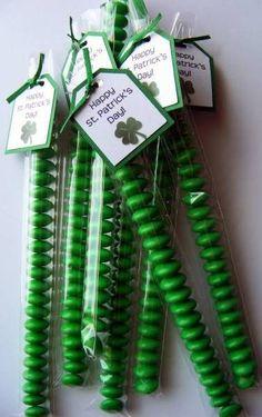 Green M Stix for St. Patty's Day Treats