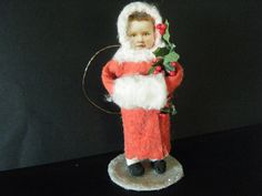 Antique Style Spun Cotton Victorian Girl with Muff vintage style holly
