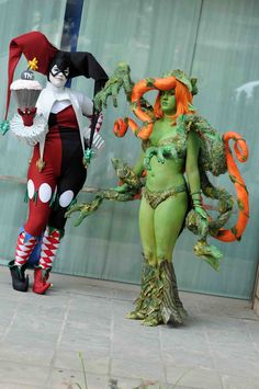 #Cosplay: Poison Ivy & Harley Quinn ( #AmeComi )