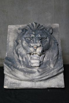 Historical Limestone Carved Lion Face from NYC Building Vancouver, Lion Sculpture, Carving, Nyc, Statue, Antiques, Building, Vintage, Antiquities