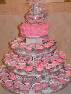 Quinceanera Cakes With Cupcakes 1000+ images about qui...