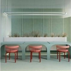 Koncepcja wnętrz Co-working, Sopot - DG Architekci Coworking Space, Restaurant Design, Restaurant Bar, Seafoam Green Color, Mint Green, Purple, Mint Wallpaper, Gris Taupe, Homemade Modern
