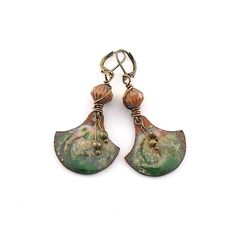 Green and Pink Swirl Copper Industrial Style by CinLynnBoutique