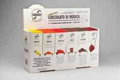 We then developed its first chocolate collection designing 6 characters, 6 packages and a crowner.    Please enjoy rich flavor at:  www.sabadi.it