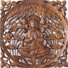 Houtsnijwerk - Boeddhapaneel (1-77) | Teak houtsnijwerk wandpanelen | LOTUS OOSTERSE ARTIKELEN Lotus, Lion Sculpture, Statue, Decoration, Home Decor, Art, Decor, Art Background, Lotus Flower