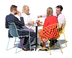 Cut out image of four people sitting in a cafe. VIShopper offers a wide selection of cut out people for illustrating architectural visualizations. People Cutout, Cut Out People, Dead Fish, Sitting Poses, Anatomy Poses, Human Drawing, Holiday Resort, Chapelle, People Sitting