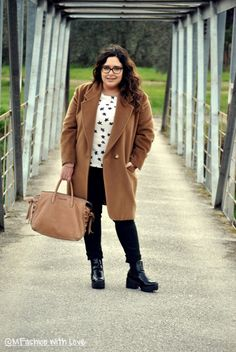 MFashion With Love: Curvy || Plus size || Outfit || Camicetta a stelline per la Pasquetta 2016 Curvy Plus Size, Plus Size Outfits, Coat, Jackets, Fashion, Large Size Clothing, Down Jackets, Moda, Sewing Coat