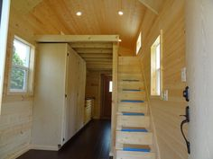 """All of our cabins are built on custom built trailers made specifically for the cabins here at our shop. The sheetrock walled cabin is priced at $35k and the all pine cabin is priced at $40k. For more pictures and information go to www.libertycabins.com"""