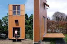 Architect Han Slawik built this tiny home, called Housebox, as an attempt to create an affordable housing solution for people on the move. Inspired by shipping containers, the place is only 150 square feet big. Thanks to the fact that Housebox is a three story building, its footprint is even smaller, approximately 75 square feet. The first floor houses a small kitchen, dining area and bathroom; the bedroom is on the second floor, and the third floor is a place for a living area. Smart…