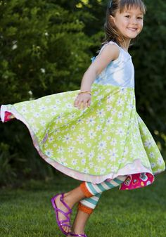 Twirly girl dresses from TwirlyGirl.  This is our Original Reversible Twirly Dress.  Click to see our new collection.