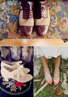 Zapatos estilo años 20 para bodas vintage