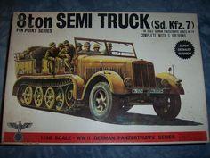 1970's Bandai 1/48 Scale German 8ton Semi Truck Sd Kfz 7 Model by MyHillbillyWays on Etsy