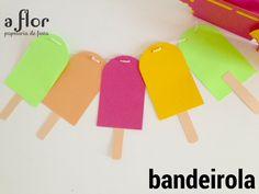 Bandeirolas feita para festa infantil tema Verão!
