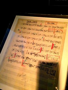 Space Oddity, score of a David Bowie's classic music