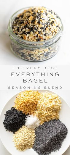 Learn how to make the BEST everything bagel seasoning at home! This textural, nutty and flavorful topping is a dreamy addition to baked goods, toast, dips, soups and anywhere you crave a little crunch. Homemade Bagels, Homemade Spices, Homemade Seasonings, Bagel Toppings, Bagel Bagel, Bagel Bread, Homemade Fajita Seasoning, Seasoning Mixes, Bagel Recipe