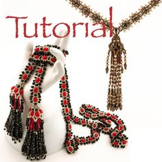 Seed Bead Tutorial Tasseled Twice Lariat and by JewelryTales