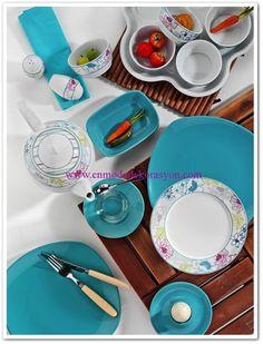 Kütahya Porselen Turkuaz Kahvaltı Takımı-43 Parça Breakfast Set, Porcelain, Plates, Tableware, Kitchen, Breakfast Nook Set, Licence Plates, Porcelain Ceramics, Dishes