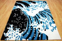 The Midnight Surf Rug looking spectacular with this colour combination. #Interiors