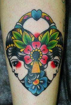 traditional gypsy lock by miss arianna #tattoos