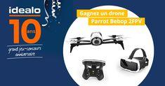À l'occasion de ses 10 ans, le comparateur de prix idealo vous offre le drone Parrot Bebop 2 FPV ! Participez dès maintenant au jeu-concours.